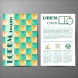 Malplaatje met geometrische dekking voor vliegers of Stock Afbeelding