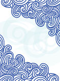 Malplaatje met gestileerde golven. Royalty-vrije Stock Foto
