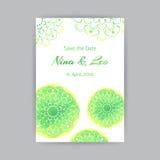 A4 Malplaatje met Groen Lotus Royalty-vrije Stock Foto's