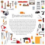 Malplaatje met hulpmiddelen Stock Foto