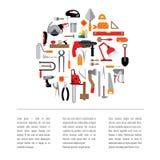 Malplaatje met hulpmiddelen Stock Afbeelding