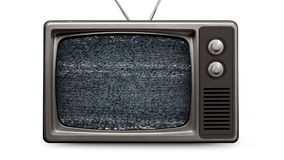 Malplaatje Retro van TV Fuzzy Fade To Empty Screen (alpha- kanaal) stock videobeelden