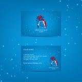 Malplaatje van adreskaartje voor cardiovasculaire kliniek Royalty-vrije Stock Afbeelding