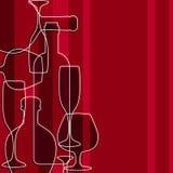 Malplaatje van alcoholkaart Stock Afbeelding