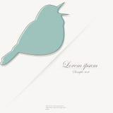 Malplaatje van brochure met gestileerde vogel vector illustratie