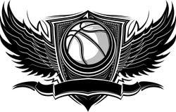 Malplaatje van de Bal van het basketbal het Overladen Grafische Royalty-vrije Stock Foto's