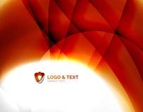 Malplaatje van de brand het oranje abstracte werveling stock illustratie