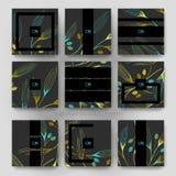 Malplaatje van de het ornament het vectorbrochure van het de herfstblad EPS 10 Royalty-vrije Stock Afbeeldingen