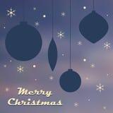 Malplaatje van de Kerstmis retro affiche Stock Afbeelding