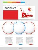 Malplaatje van de winkel het moderne website Stock Afbeelding