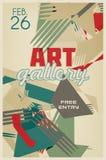 Malplaatje van grafische retro affiche met abstractie Royalty-vrije Stock Afbeelding