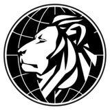 Malplaatje van het bedrijfs het vectorembleemontwerp leeuw of dierentuin Stock Afbeeldingen