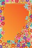 Malplaatje van het bloem het natuurlijke gouden kader Stock Foto