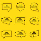 Malplaatje van het de bellen het vectorontwerp van de citaattoespraak Royalty-vrije Stock Afbeeldingen