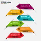 Malplaatje van het de stap het vectorontwerp van de Infographicpijl Stock Fotografie