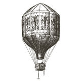 Malplaatje van het het embleemontwerp van de hete luchtballon het vector retro Royalty-vrije Stock Afbeeldingen