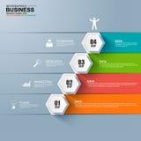 Malplaatje van het het succes het vectorontwerp Infographics van de bedrijfstredestap vector illustratie