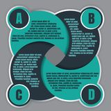 Malplaatje van het Infographic het vectorontwerp met vier stappen ABCD royalty-vrije illustratie