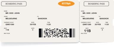 Malplaatje van het kaartje van de luchtvaartlijn instapkaart royalty-vrije illustratie