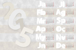 Malplaatje van het kalender 2015 het vectorontwerp Royalty-vrije Stock Afbeelding