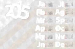 Malplaatje van het kalender 2015 het vectorontwerp Stock Foto