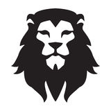 Malplaatje van het leeuw het hoofdembleem Het dierlijke wilde grafische teken van het kattengezicht Trots, sterk, het symbool van Royalty-vrije Stock Afbeelding