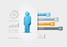 Malplaatje van het mensen het infographic ontwerp Stock Foto