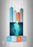 Malplaatje van het mensen het infographic ontwerp Stock Afbeeldingen
