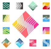 Malplaatje van het ontwerp het vierkante vectorembleem. royalty-vrije illustratie