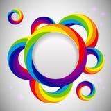 Malplaatje van het regenboog het vectorontwerp stock illustratie