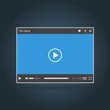 Malplaatje van interface van videospeler Stock Fotografie