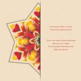 Malplaatje van kaart of vlieger met kleurrijke halve ster Royalty-vrije Stock Foto