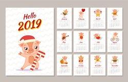 Malplaatje van kalender stock illustratie