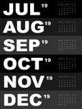 Malplaatje van kalender voor 2019 Royalty-vrije Stock Fotografie