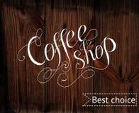 Malplaatje van koffiewinkel Stock Afbeeldingen