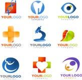 Malplaatje van medisch embleem Stock Afbeelding