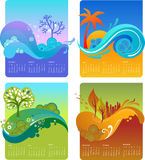 Malplaatje van ontwerpkalender - VECTOR Stock Afbeelding