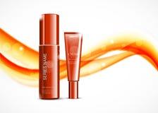 Malplaatje van schoonheids het kosmetische advertenties stock illustratie