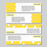 Malplaatje van van het bedrijfs bijenkorf het moderne ontwerp aantalbanners of websitelay-out Informatie-grafiek Vector Stock Afbeelding
