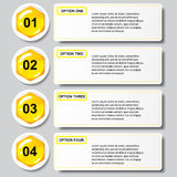 Malplaatje van van het bedrijfs bijenkorf het moderne ontwerp aantalbanners of websitelay-out Informatie-grafiek Vector Royalty-vrije Stock Foto
