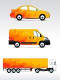 Malplaatje van voertuigen om te adverteren, te brandmerken of collectieve identiteit Royalty-vrije Stock Foto's