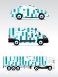 Malplaatje van voertuigen om te adverteren, te brandmerken of collectieve identiteit Stock Foto's