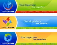 Malplaatje van websitebanners Royalty-vrije Stock Fotografie
