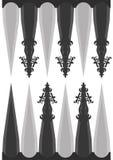 Malplaatje voor backgammon Stock Afbeelding