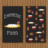 Malplaatje voor boekje, menu of vlieger met voorwerpen Stock Afbeelding