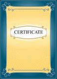 Malplaatje voor certificaatachtergrond Royalty-vrije Stock Afbeelding