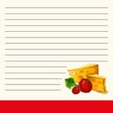 Malplaatje voor een kookboek Koele pagina voor het kookboek Mooi ontwerp van de binnenpagina van een kookboek Royalty-vrije Stock Fotografie