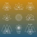 Malplaatje voor embleem van yogastudio Royalty-vrije Stock Afbeelding