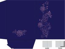 Malplaatje voor giftomslag met matrijzenbesnoeiing.   Royalty-vrije Stock Afbeelding