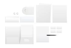 Malplaatje voor het brandmerken van identiteit op wit Stock Foto's